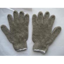 Gant d'hiver en laine gris tricoté 7g -2302