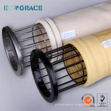 Bolsa de filtro de polvo jaula jaula de acero inoxidable para el bolsillo del filtro