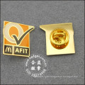 Square Gold Badge, Epoxy-Dripping Metal Lapel Pin (GZHY-BADGE-025)