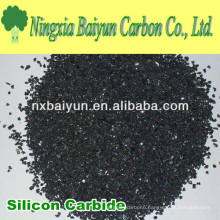 Black silicon carbide powder for metal cutting