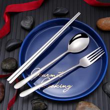 Baguettes de fourchette de cuillère de couverts de voyage d'acier inoxydable 304