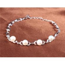 925 braceletes de prata e braceletes pulseira de pérolas de água doce