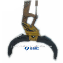 Garra hidráulica YUCHAI YC135 YC160, garfio de accesorio de excavadora, garfio de madera