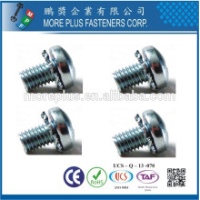 Made in Taiwan Phillips Pozi Torx Pan Head Screws and Combination External Tooth Lock Washers Assembled SEMS Screws