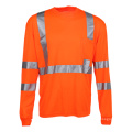Langes Hülsen-reflektierendes Sicherheits-Hemd Wholsale mit Rippe-Hals