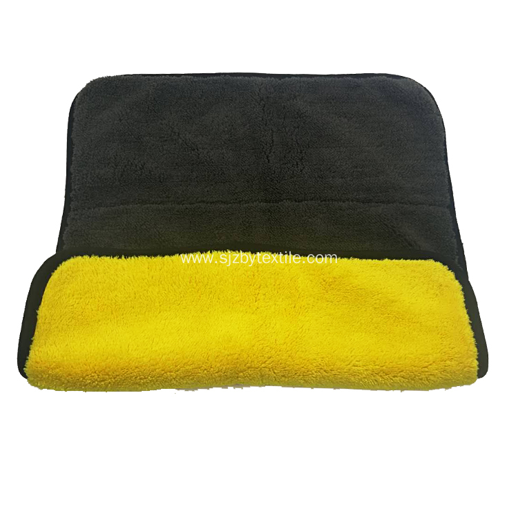 Yellow Black Car Cleaning Wash Polish Microfiber Towel