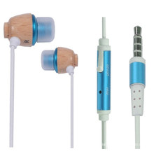 Wooden Mobile Earphone for iPhone or iPod (EB-61226)