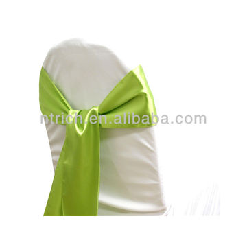 sage green, fancy vogue satin chair sash tie back,bow tie,knot,wedding chair covers and sashes
