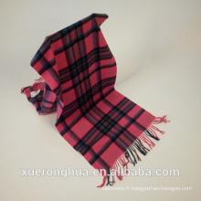 Chèque châle en laine de couleur rose pour l'hiver Mongolie intérieure Origine