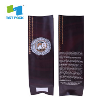 Custom Printed Aluminum Foil Side Gusset Coffee Plastic Bag
