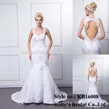 Feito na China atacado bonito sereia látex liso tingido fitas vestidos de casamento padrões à venda