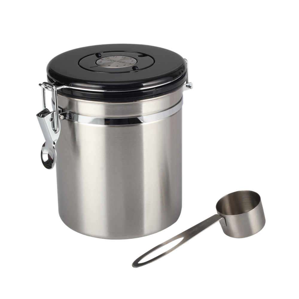 Stainless Steel Canister With Spoon