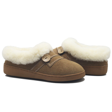 women's winter comfortable sheepskin ankle booties slippers