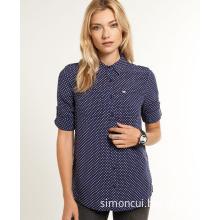 Women Roll up Sleeve Shirt