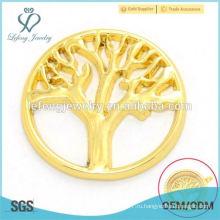 Высокое качество 22 мм золото цинкового сплава стекла плавающей медальон подвески дерево жизни окна пластин дизайн