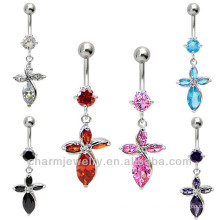 316L Surgical Steel Navel Belly Bar Ring Body Jewelry Piercing BER-018
