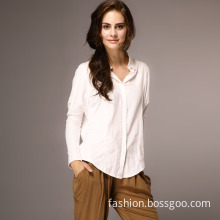 Women's Casual Fashion Long Sleeve Cotton Blouse (FLS004)