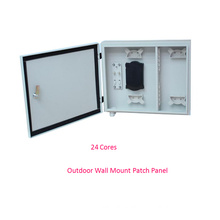 24 Cores Outdoor Wall Mount Fiber Optic Patch Panel