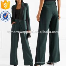 Полосатый стретч-крепа с широкими брючинами, брюки Производство Оптовая продажа женской одежды (TA3051P)