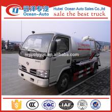 Dongfeng 3000 litros de succión de camiones de aguas residuales