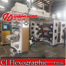 Máquina de impressão flexográfica de filme conservante / película retráctil