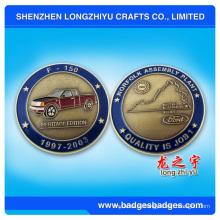 3D маленький металлический монета с забавным логотипом