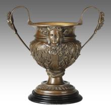 Estatua de decoración de florero Apolo talla de escultura de bronce TPE-661