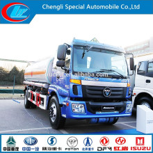 Stainless Steel Gasoline Bowser Foton Auman 4*2fuel Tank Truck Aluminum Petrol Bowser DOT Aluminum Alloy Saso Adr