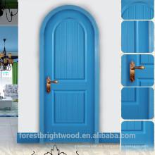 Diseños modernos de la puerta de madera sólida principal del estilo mediterráneo del último diseño azul