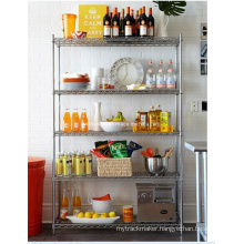 Multifunction Chrome Metal Storage Rack for Restaurant