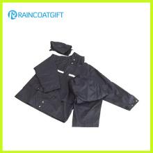 Imperméable de police de bande réfléchissante de polyester imperméable Rpy-043