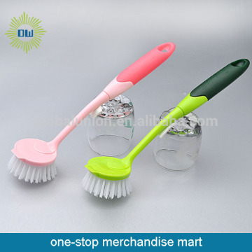 Pot Brush Round Head With Colorful Handle