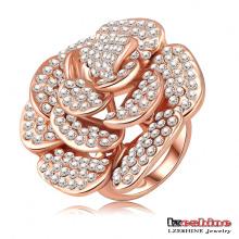 Полный Rhionestone Роза цветок Большой палец кольца (Ri-HQ0049)