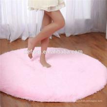 Machine washable microfiber polyester super soft base carpet