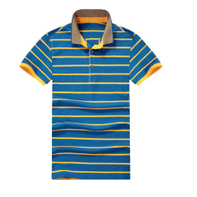 Cotton Polo Collar Striped T Shirt Mens Polo Collar Striped T Shirt