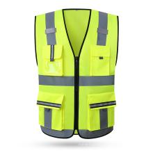 Custom Multi Pockets Breathable Workwear Hi Vis Reflective Safety Vest