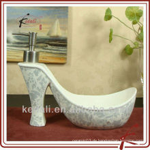 China Fabrik Großhandel Porzellan Keramik Lotion Spender Flüssigkeit Spender