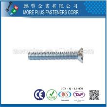 Fabricant à Taiwan M2.5X6 en acier inoxydable Machine métrique à petite surface à tête fraisée