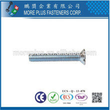 Criador em Taiwan Stainless Steel M2.5X6 Metric Machine Small Size Countersunk Head Screw