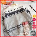 Pullover bloco de cores manga raglan luva de moda de moda do Natal camisolas
