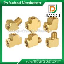 Taizhou fábrica preço competitivo 1/2 '' 1 '' 2 '' forjado npt rosqueado personalizadas acessórios de tubos de latão desenhos