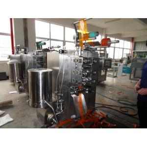 Ice lolly filling and sealing machine