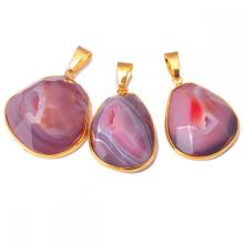 Natural Agate Drusy Cave Crystal Pendant