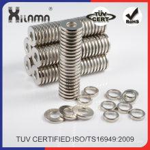 Imanes de anillo de neodimio fábrica abastecimiento N52 para separación
