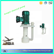 Corrosion-resistant vertical chemical pumps