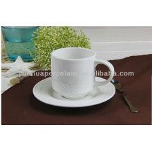 Porzellan Keramik Runde Form Kaffeetassen Tassen und Untertasse