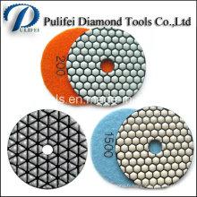 Tampon de polissage humide de diamant de granit et de béton pour la machine de polonais