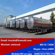 45cbm combustible pétrole brut Diesel pétrole Transport camion citerne Semi remorque