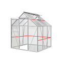 Aluminum Alloy Frame Polycarbonate Sheet Garden Greenhouses
