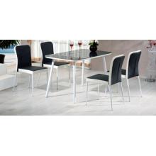 Современный номер мебель дешево закаленного стекла обеденным столом образцов